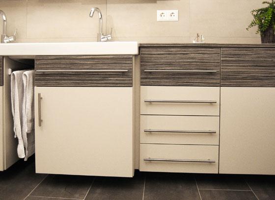 Badezimmermöbel Waschmaschine