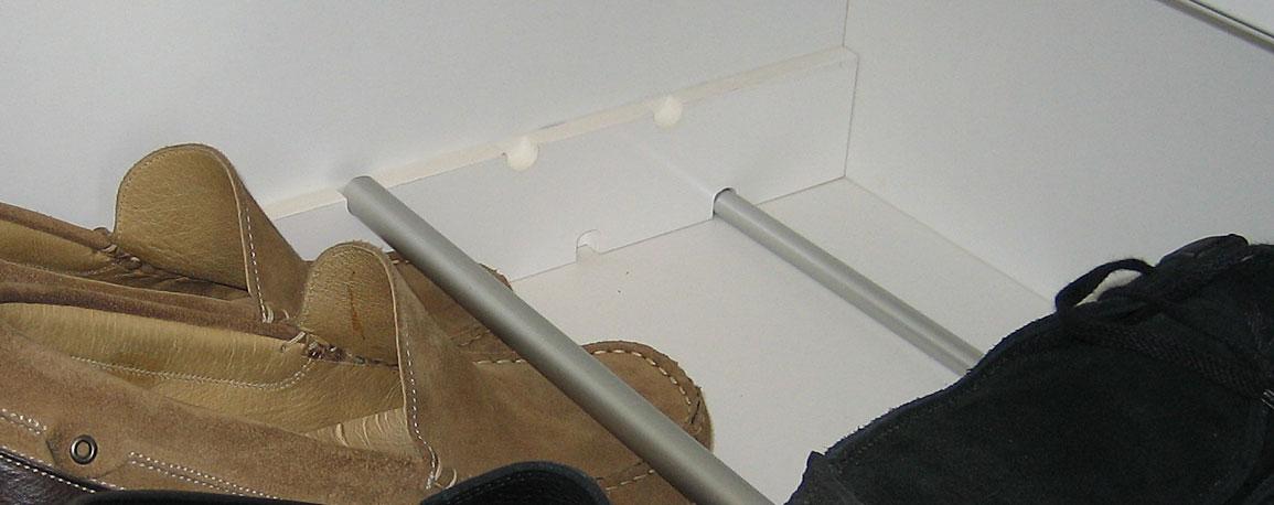Einsatz in Schublade für Schuhe